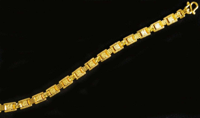 """7""""nice&cool bangle 24K gold filled bracelet 67"""