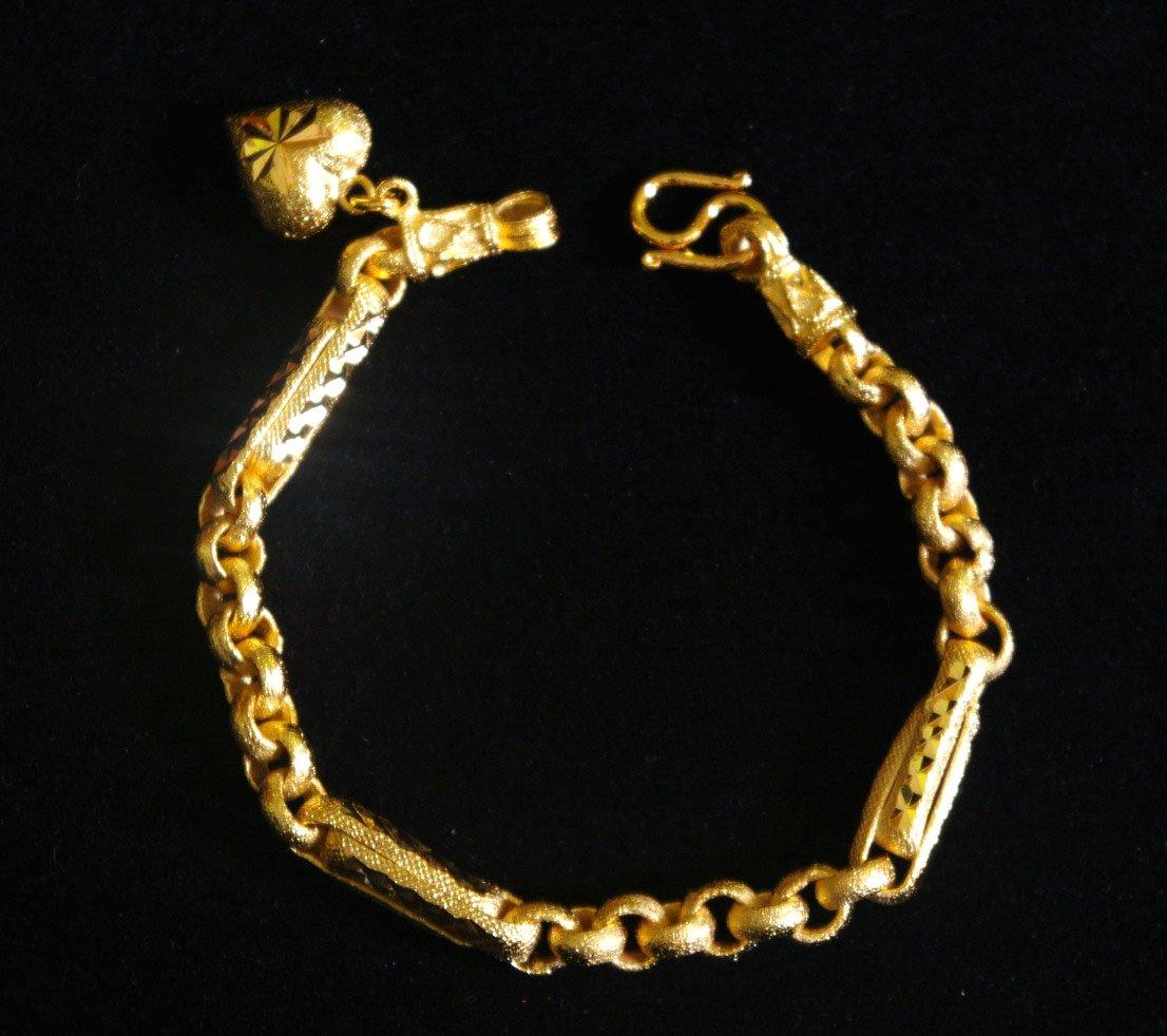 """chain&rod 6.8"""" handmade 24K gold filled bracelet 46"""
