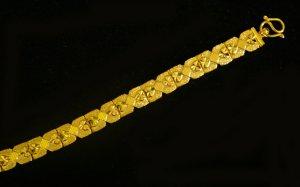 """nice 7.3"""" handmade 24K gold filled bracelet 49"""