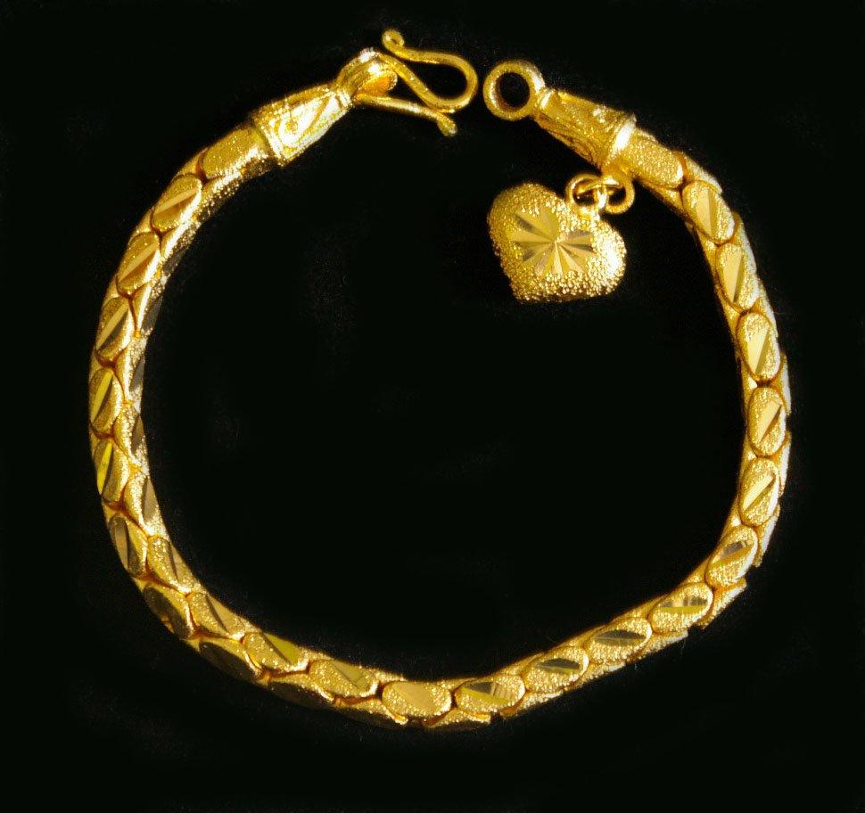 """7.6""""nice&unique 24K gold filled bracelet bangle 76"""