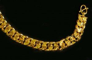 """7.2"""" two usage side chain 24K gold filled bracelet bangle 93"""