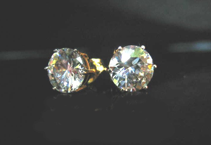 charming cz 24K gold filled pin earrings05