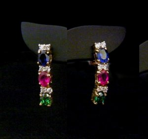 colorful cz 24 gold filled earrings 13