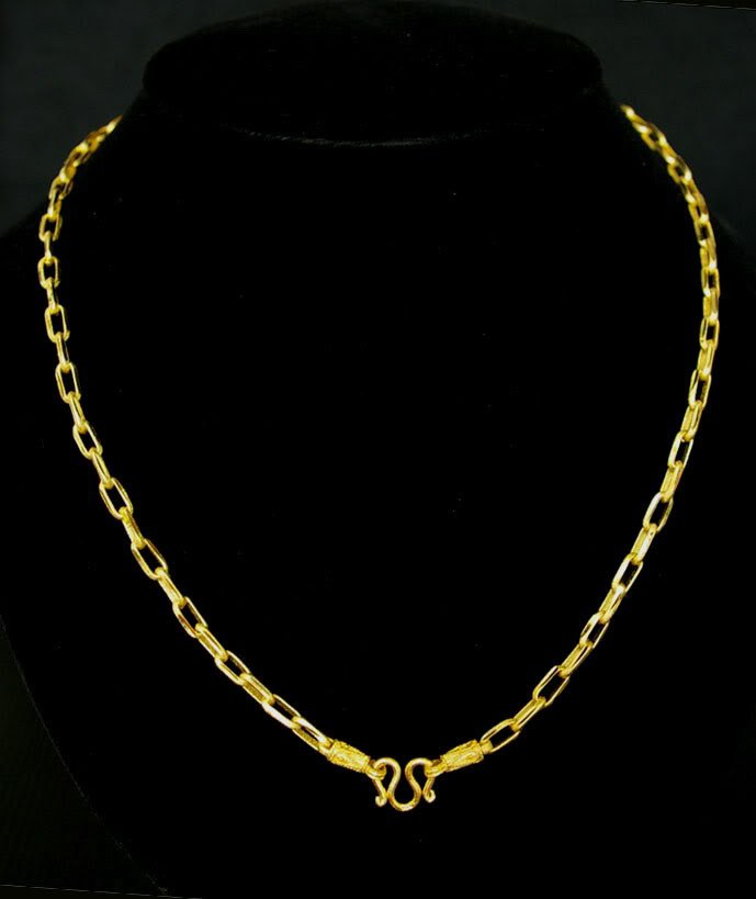 "23.3"" cool chain 24K gold filled necklace 58"