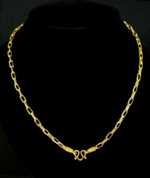 """23.3"""" cool chain 24K gold filled necklace 58"""