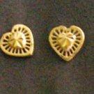 tiny sweet heart 24K gold filled earrings