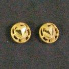 tiny diamond 24K gold filled earrings
