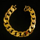 "7""shinny chain 2 side usage 24K gold filled bracelet bangle 95"