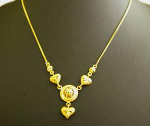 "17.6""lovely and sweet gold plated necklace 03"