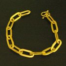 "8""smart chain 18K gold plated  bracelet 02"