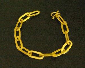 "8""smart chain 18K gold plated  bracelet 02"