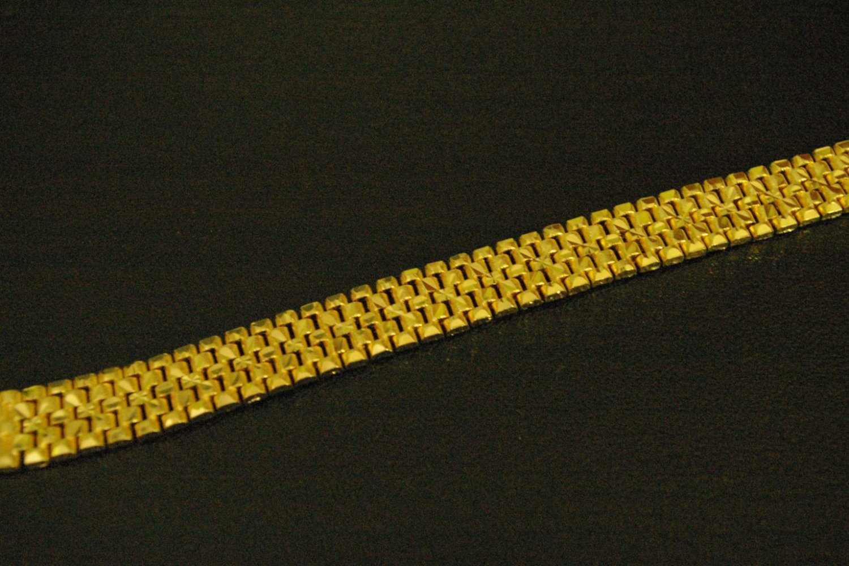 "7.2""so nice gold plated  bracelet 03"