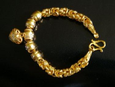 "8.3""lovely & nice 24K gold filled bracelet bangle 30"