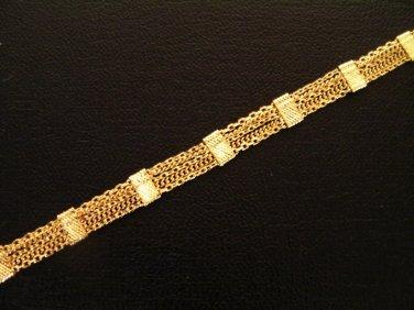 "7.6"" lovely & nice 24K gold filled bracelet bangle 121"