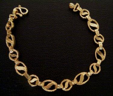 """7.4"""" unique nice 24K gold filled bracelet bangle 122"""