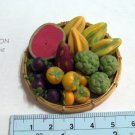 handmade miniature fruit in basket set 2 (not glued)