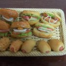 12 pcs handmade miniature bread 1/12 scale not included tray