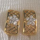 very nice and sweet flower cz 24K  gold filled earrings 28