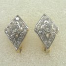 cz white gold filled 24K gold filled earrings 23