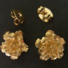 Wonderful flower 24K gold filled earrings 1 micron