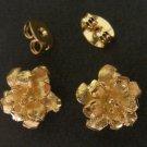 Wonderful flower 24K gold filled earrings 1 micron