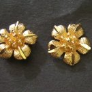 mini lovely flower 24K gold filled earrings 1 micron
