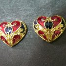 very lovely heart  thai style  24K gold filled earrings