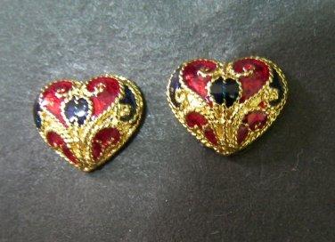 very lovely heart  thai style  24K gold filled earrings