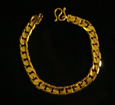 "shinny chain 7.2"" 24K gold filled bracelet 53"