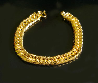 7.2 Inch nice sand and shinny chain 100% 24K gold filled bracelet 03