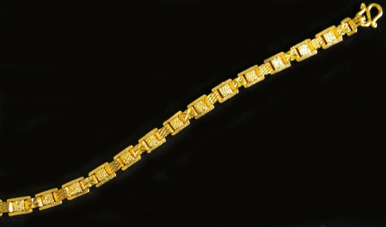 """6.9""""nice unique 24K gold filled bracelet bangle 67"""