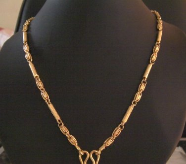 26 Inch beautiful unique pattern 24K gold filled necklace 111