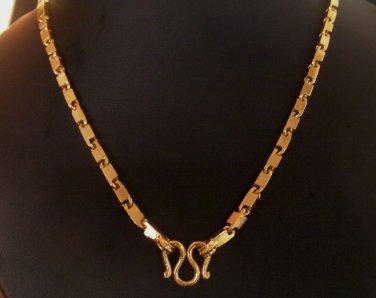 20 Inch unique pattern 100% 24K gold filled necklace 116