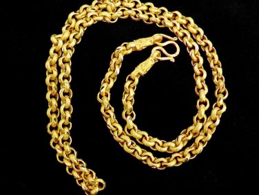 20 Inch nice sand chain 100% 24K gold filled necklace 130