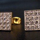 square shape modern 24K gold filled earrings 18