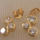 fascinated modern round shape 24K gold filled earrings 31
