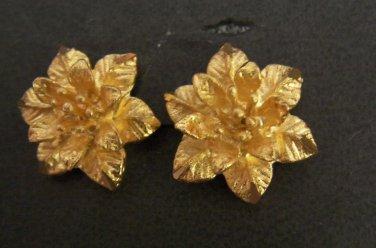 Wonderful christmas flower earrings all 24K gold filled earrings