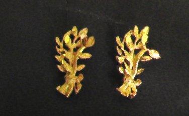 mini brance pattern 24K gold filled earrings  earrings