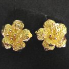 lovely sand flower 24K gold filled earrings tiny  earrings