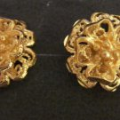 Sale nice and sweet flower pattern  24K gold filled earrings