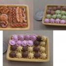 1:12 scale lovely miniature food 24 pcs cookies and 12 pcs bread not included tray