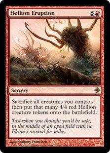 Magic the Gathering Rise of the Eldrazi Hellion Eruption (RARE)