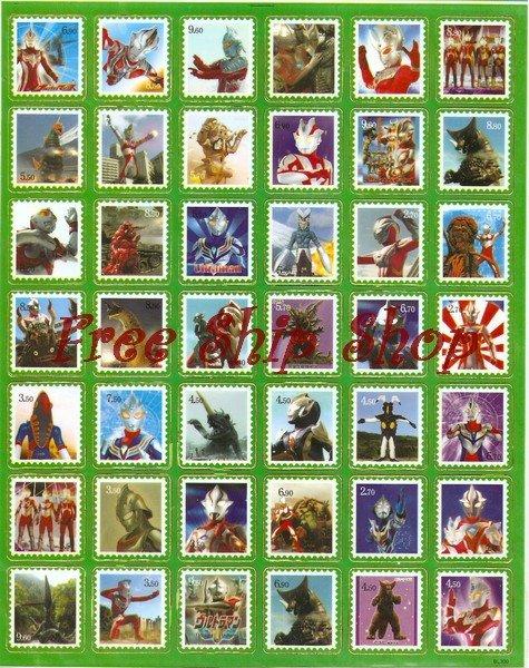 10 Big sheets Ultraman Buy 2 lots Bonus 1 #BL003