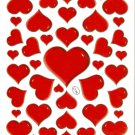 10 Big sheets Heart and Love Stickers  Buy 2 lots Bonus 1 lot #HT C134