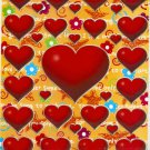 10 Big sheets Heart and Love Stickers Buy 2 lots Bonus 1 lot  #HT C137