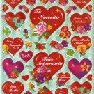 10 Big sheets Heart and Love Stickers Buy 2 lots Bonus 1 lot  #HT TM0202