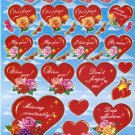 10 Big sheets Heart and Love Stickers Buy 2 lots Bonus 1 lot  #HT BL066