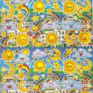 10 Big sheets Sun Moon Star Cloud Stickers Buy 2 lots Bonus 1 lot #SUN B118