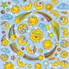 10 Big sheets Sun Moon Star Cloud Stickers Buy 2 lots Bonus 1 lot #SUN TM0036