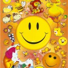 10 Big sheets Smiley Face Stickers Buy 2 lots Bonus 1 lot  #SF TM0203